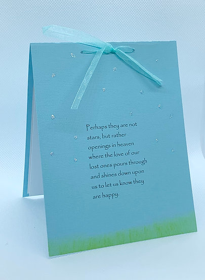 Perhaps they are not stars... Sympathy card
