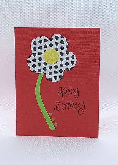 Polka dot flower -  Happy Birthday