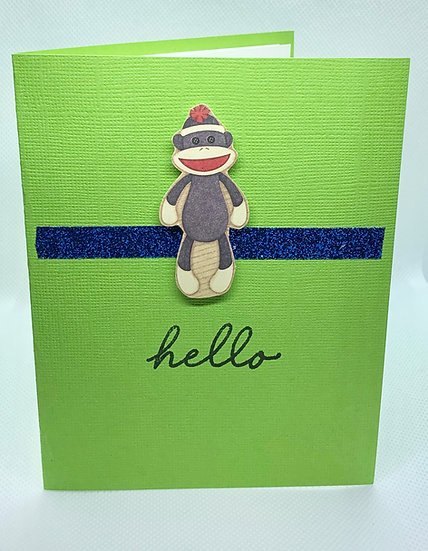 Sock Monkey - hello