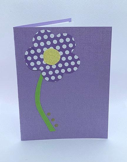 Purple Polka Dot Flower