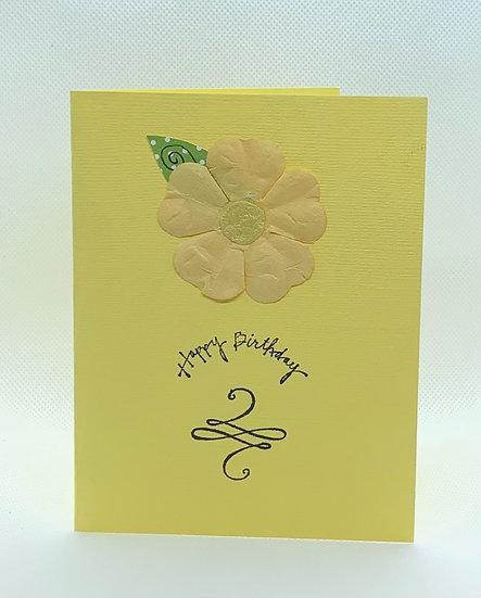 Flower and Leaf - Happy Birthday