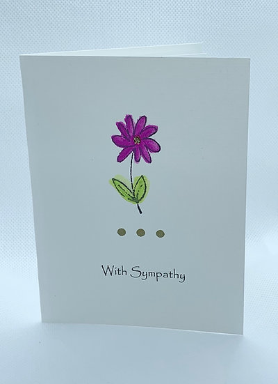 Watercolor Flower - Sympathy