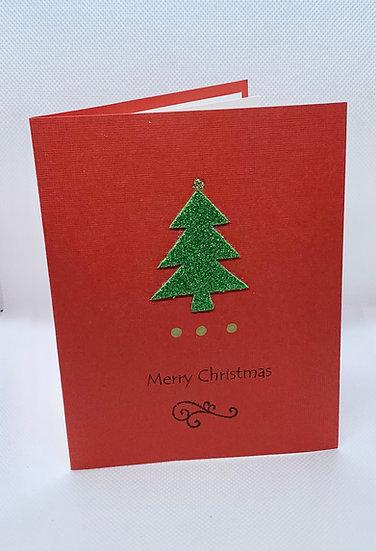 Green Christmas Tree - Merry Christmas