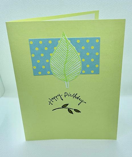 Leaf and Polka Dot Birthday