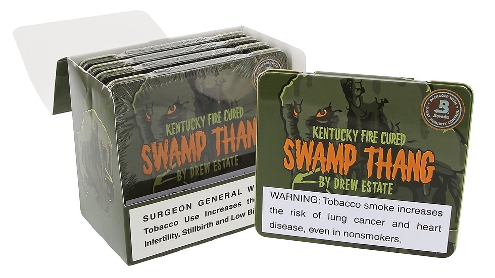 """Drew Estate Kentucky Fire Cured Swamp Thang Mini (Box of 10) (4"""" x 32)"""