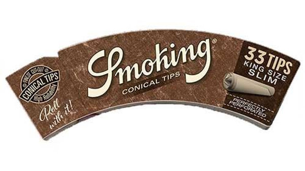 Smoking Conical Tips Brown