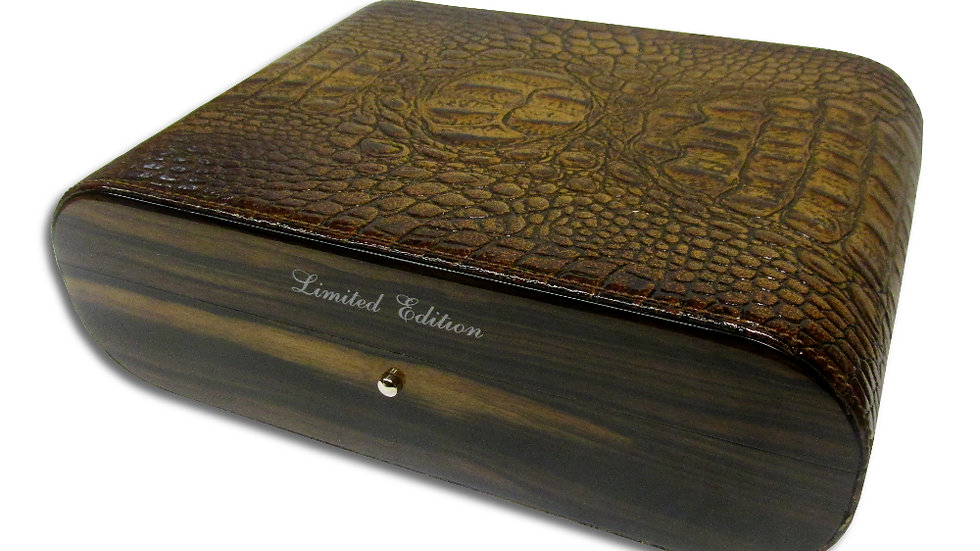 Gentili Elm Leather Humidor