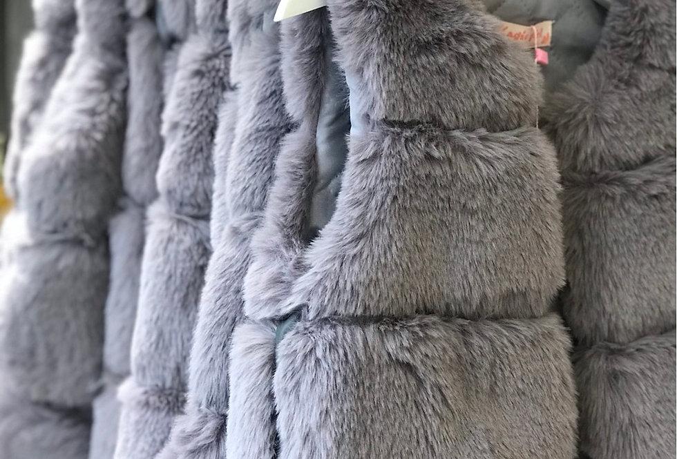 Grey Fur Gillet