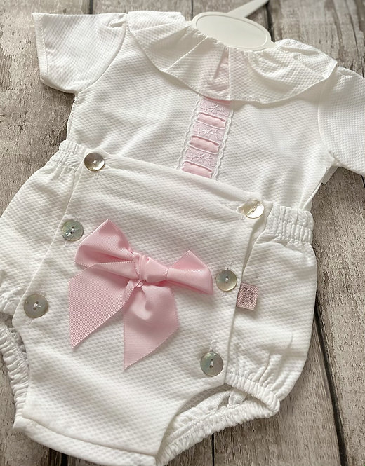 Spanish Pink Woven Bow