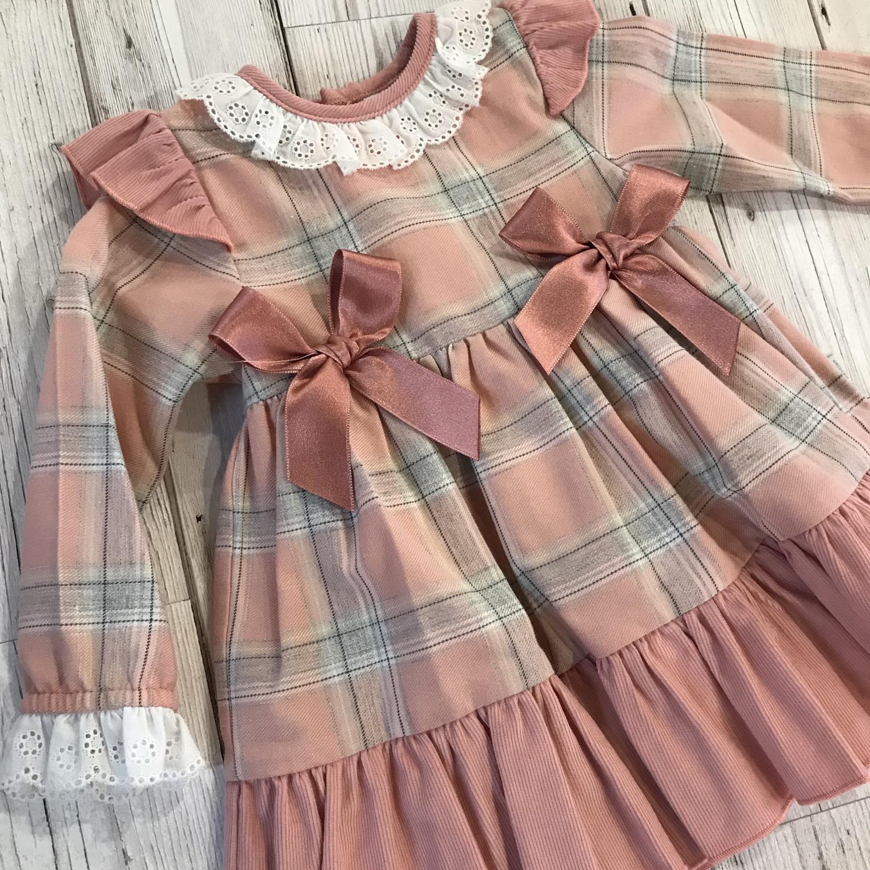 Dusty Pink Bow Dress