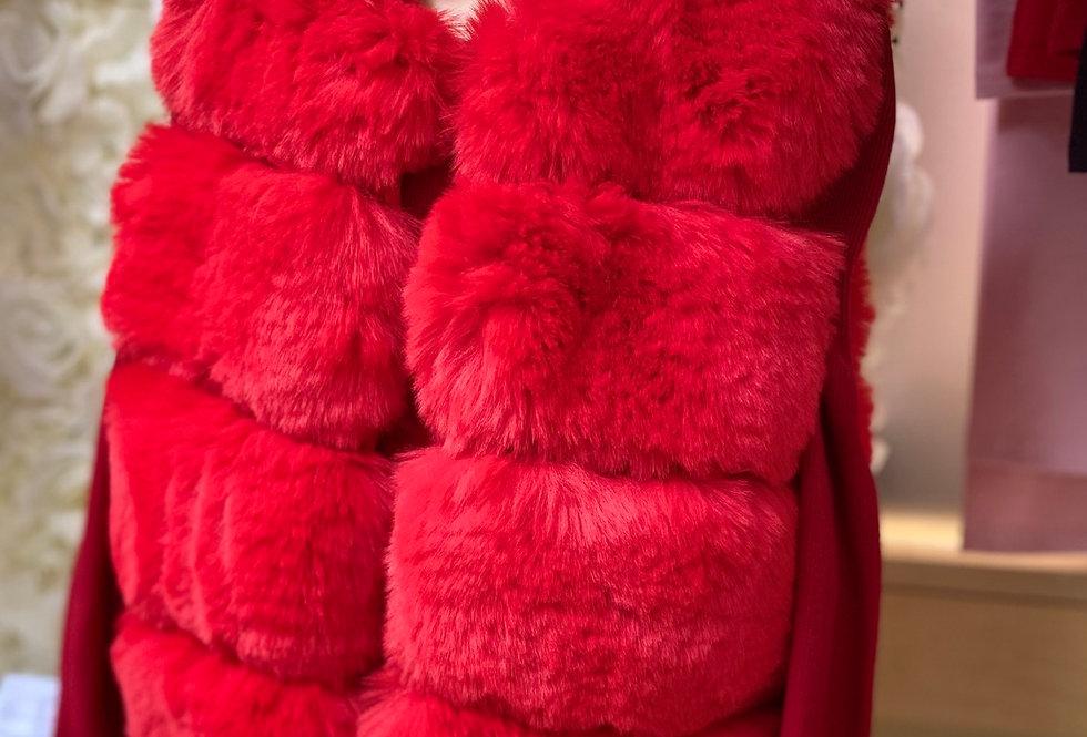 Red Fur Gillet