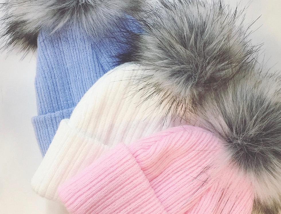 Single Fur Pom Hat