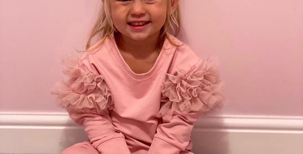 Pink Puff Sleeve Tracksuit