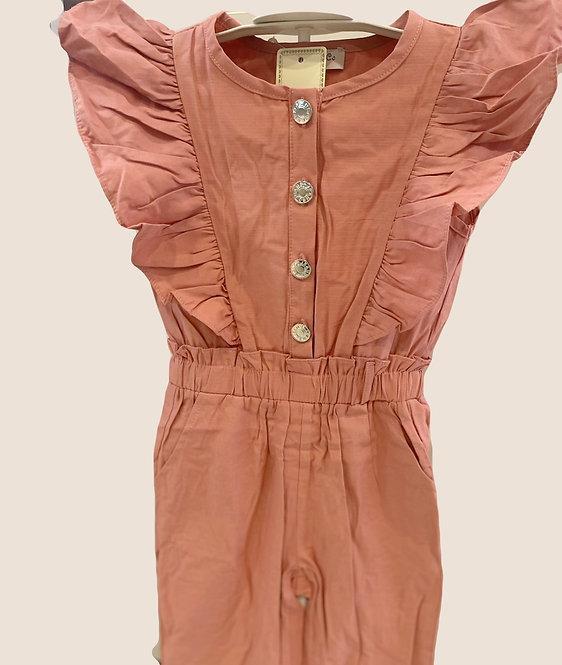 Dusty Pink Ruffle Jumpsuit