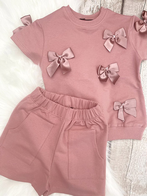 Berry Bow Short Set