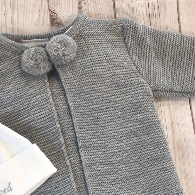 Grey Unisex Pom Pom Legging Suit