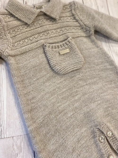 Beige Natural Wool All In One