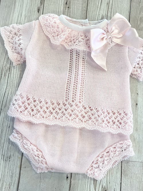 Large Bow Knitted Two Piece