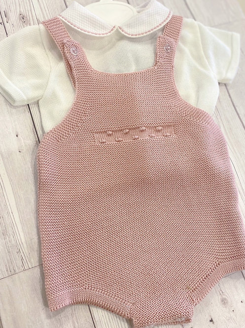 Dusty pink Knitted Romper Set