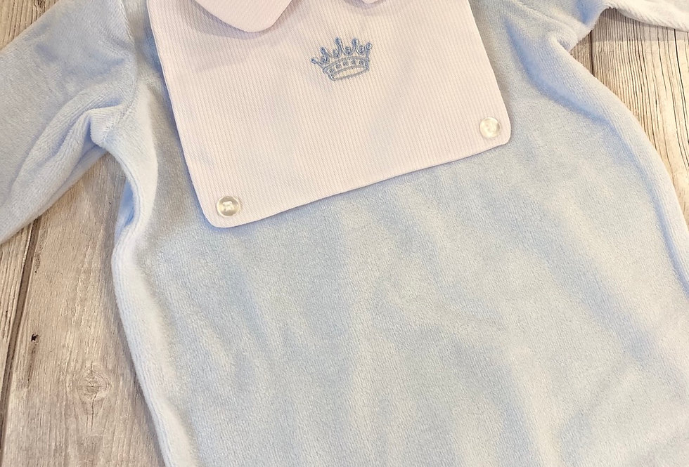 Prince Velour Sleepsuit