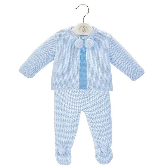 Blue Pom Pom Legging Suit