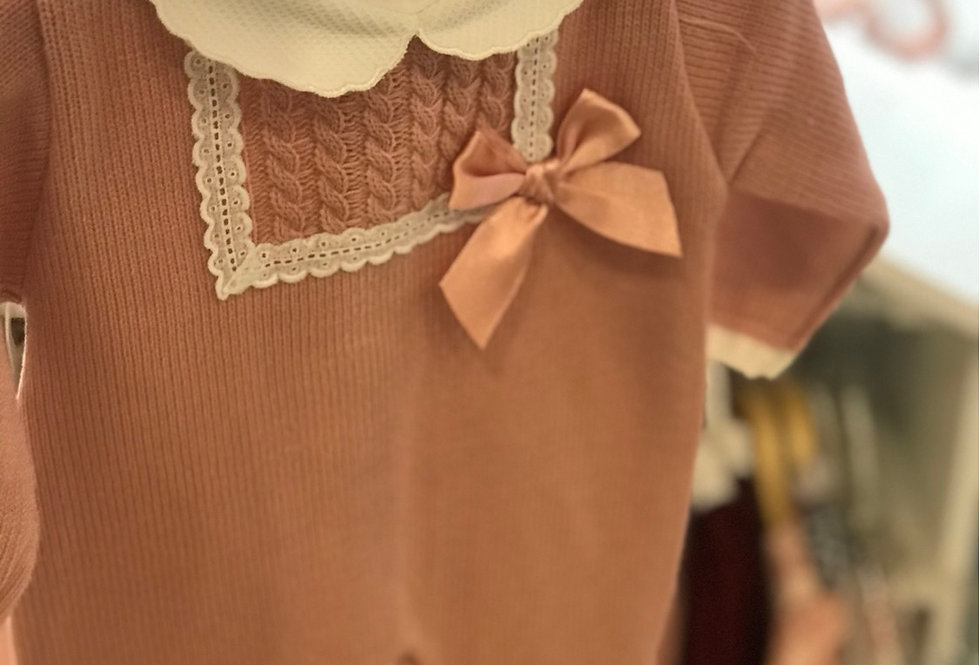 Dusty Pink Lace Trim All In One