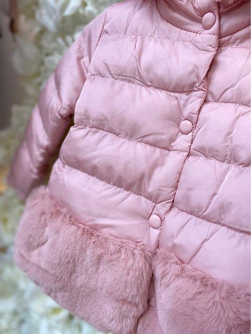 Fur Hem Panel Jacket