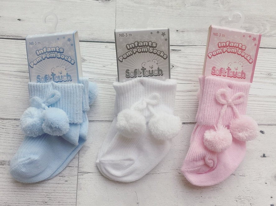 Ankle Socks With Pom Poms