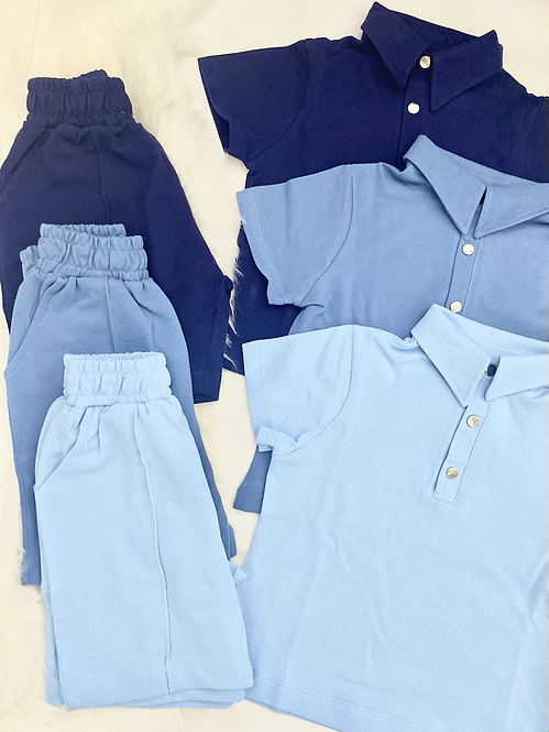 Polo Piped Short Set