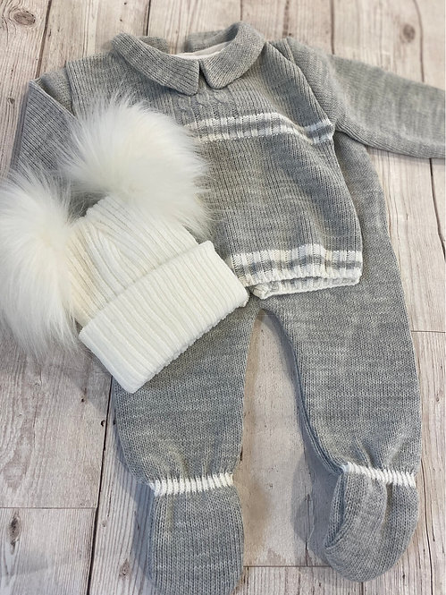 Grey Knitted Two Piece