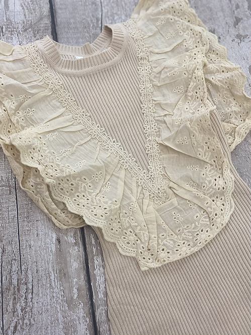 Broderie Anglaise Detailed Dress