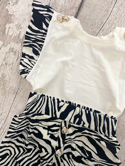 Zebra Skirt Set