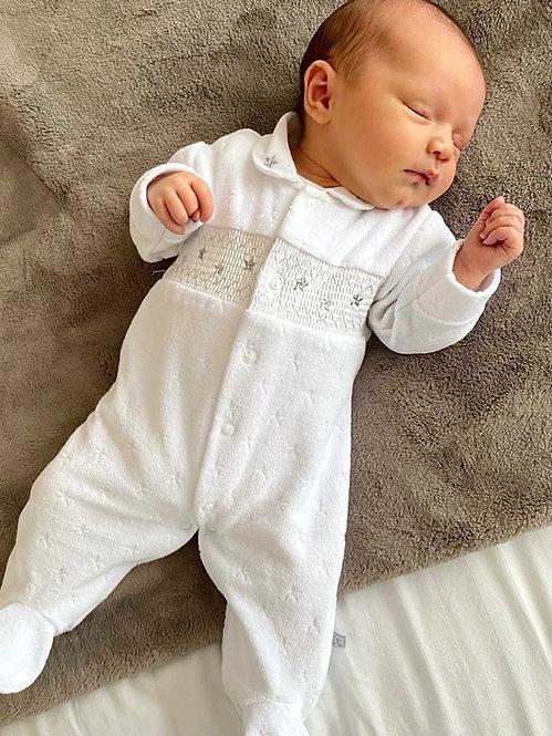 Velour Star Sleepsuit