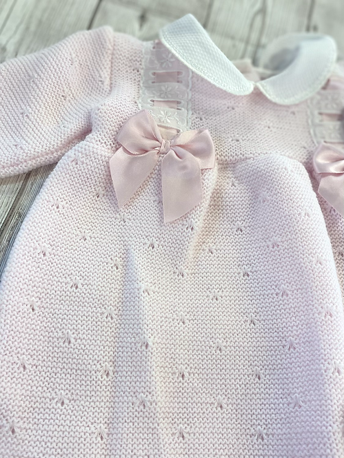 Knitted Dress With Bows