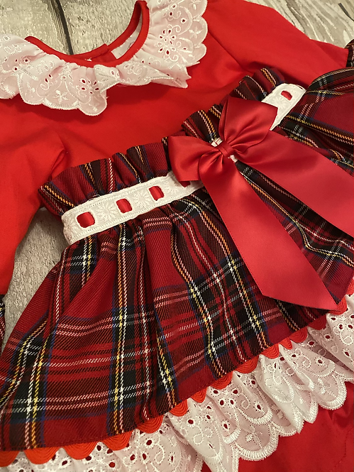 Tartan Layered Dress
