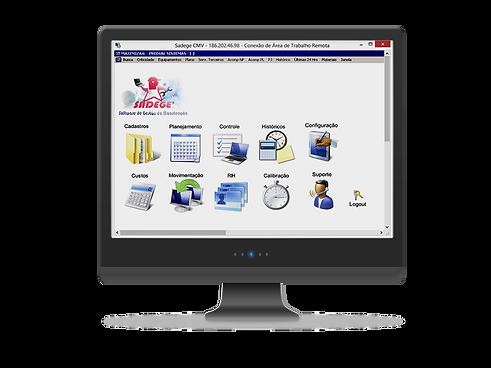 Demonstração do programa SADEGE software de gestão da manutenção em funcionamento