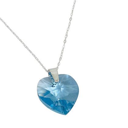 Swarovski Crystal Large Heart - Aquamarine