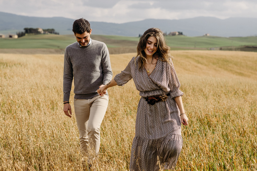 Valentina + Matteo | Engagement Session in Val D'Orcia (SI)