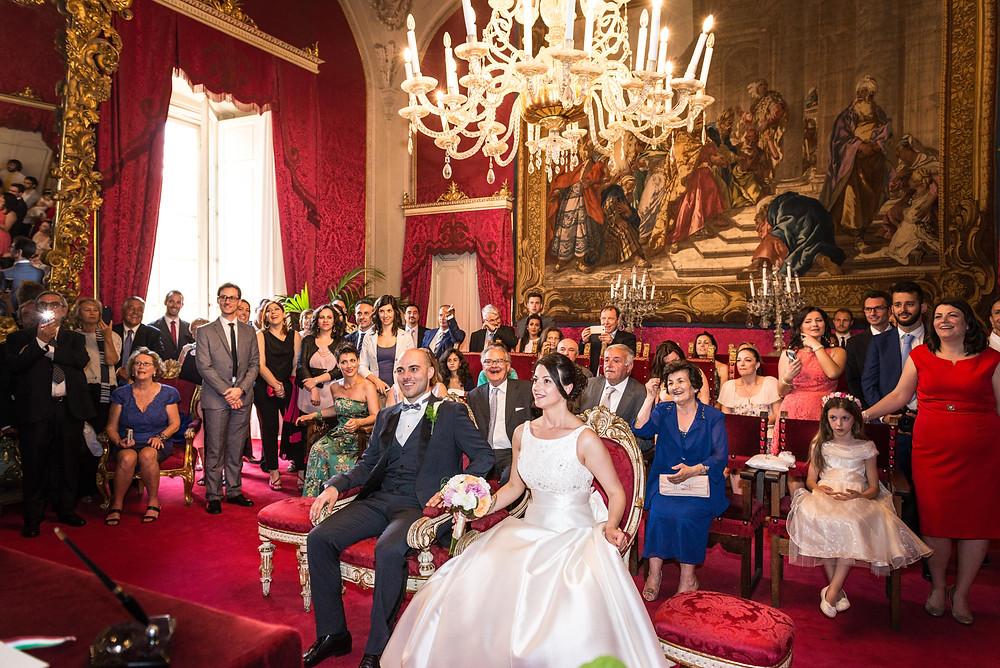 wedding photo in palazzo vecchio