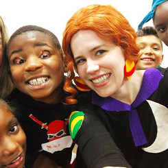 Please let this be a normal field trip! With the Friz_ No way! _Happy Halloween from Ms Frizzle, princesses, ninja's, and creepy inside out_