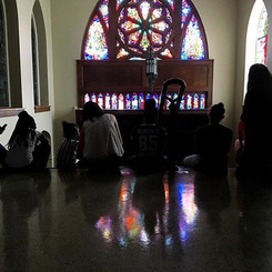 Field trip day to across the street for viewing stained glass windows 💒🌈 ._._._._.jpg