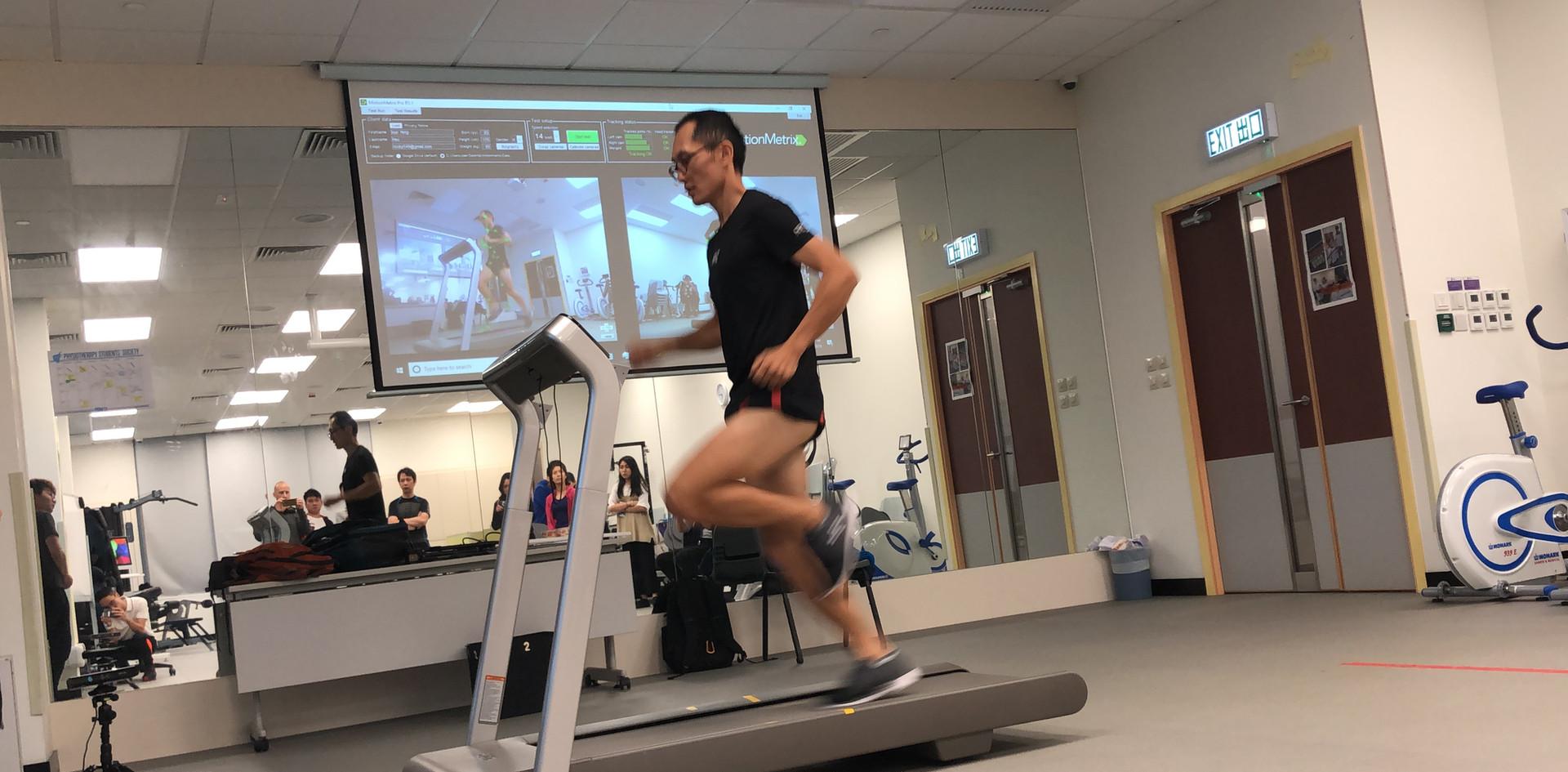 Mr. Hsu try on MotionMetrix