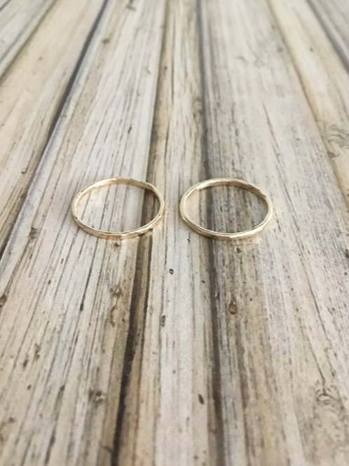 14k SOLID Gold Stacker Rings (2) - Size 5.25