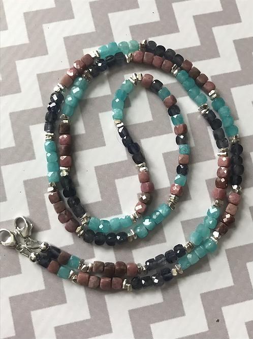 "OOAK ""Color Me Dazzling"" 3-in-1 Gemstone Eyeglass Chain/Lanyard/Necklace"