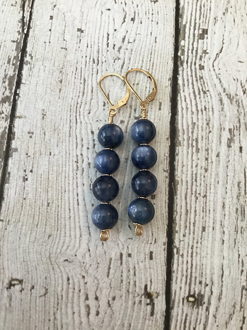 AAA Blue Kyanite and 14k Gold Fill