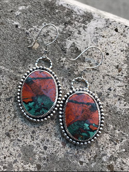 Sonoran Sunrise and Fine/Sterling Silver Earrings
