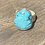 Thumbnail: Minimalist Kingman Turquoise and Fine/Sterling Silver Ring (size 8.75)