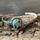 Thumbnail: Carico Lake Turquoise and Fine/Sterling Silver Bangle Cuff