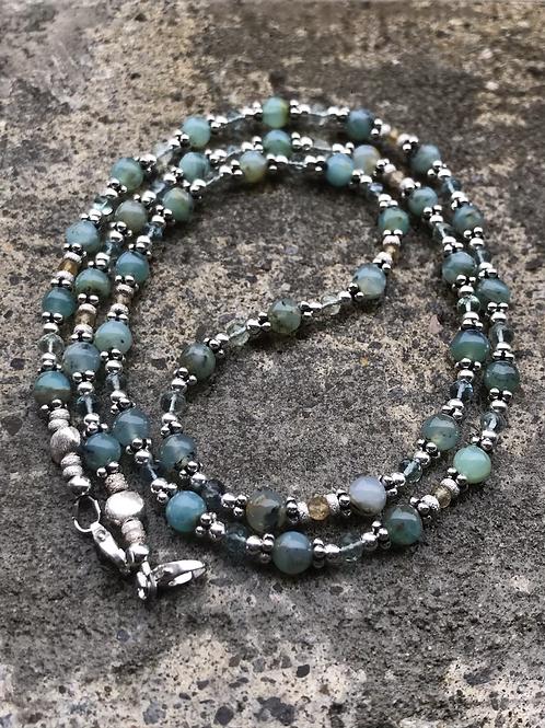 """OOAK """"Andean Rapture"""" 3-in-1 Gemstone Eyeglass Chain"""
