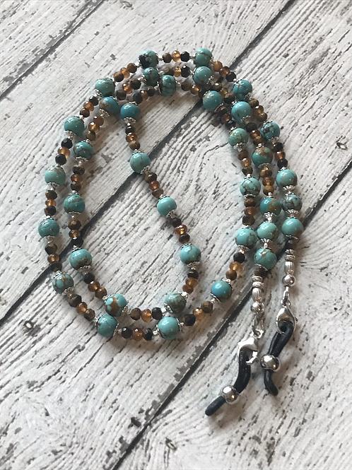 "OOAK ""Sunset Goddess"" 3-in1 Eyeglass Chain/Lanyard/Necklace"